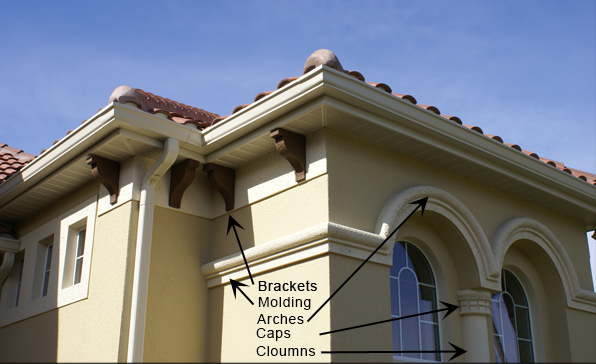 Architectural Commercial Exterior Decorative Trim : Central florida foam architectural banding